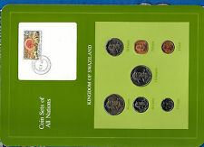 Coin Sets of All Nations Swaziland w/card 1975-1982 UNC 50,1 cents 1975