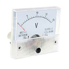 White DC 0~20V 85C1-V Class 2.5 Voltmeter Analog Volt Panel Meter New