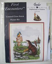 Otter and Kingfisher Cross Stitch Kit Anchor First Encounters Bird 1998 Sealed