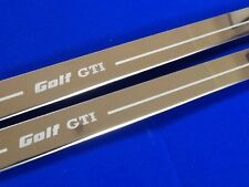 Golf GTi Mk2 Door Sills Stainless Steel Etched Logo Inc Fixings vw golf gti