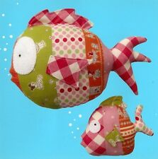 New Craft Sewing Pattern by Melly & Me:  Under The Sea (Lg & Baby Stuffed Fish)