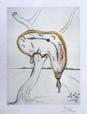 Salvador DALI Soft Watch Melting Clock P/Signed Fine Art Lithograph + COA