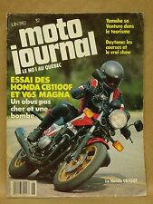 Vtg June 1983 Moto Journal Motorcycle Magazine Honda CB1100 F Yamaha XVZ12