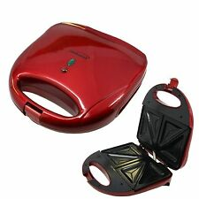 COOL TOUCH RED NON-STICK GRILLED CHEESE SANDWICH HOT POCKETS MAKER COOKING GRILL