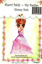 NEW My-Besties Clear cling Rubber Stamp  PROM GIRL free usa ship