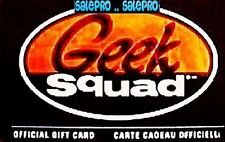 BEST BUY CANADA OFFICIAL GEEK SQUAD CADEAU SCARCE COLLECTIBLE GIFT CARD