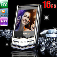 16GB 1.8'' LCD Screen Slim MP4 MP3 Music Player FM Radio Video Games & Movie