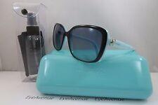 Tiffany & Co. TF 4092 8055/4s Black/Tiffany Blue Authentic Sunglasses 56mm Case