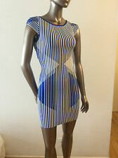NWT CLOVER CANYON blue and white bodycon knit Stripe dress size S - $297
