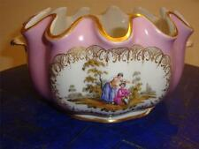LOVELY ESTATE SEVRES PINK PORCELAIN CENTERPIECE TAPESTRY BOWL WITH PORTRAITS!!!