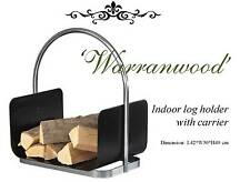 Fireplace Wood Rack / Holder 'Warranwood' Indoor Fire Log Storage with Carrier