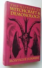 VINTAGE OCCULT History of Witchcraft & Demonology Montague Summers 1992 HC/DJ