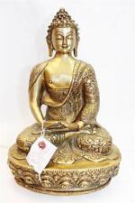"""F638 Exclusive Metal Statue of  Amitabha Buddha 12.9"""" tall Hand Crafted in Nepal"""