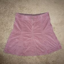 WOMEN'S ATHLETA  Mauve WHENEVER CORD SKIRT size 8 Style 708526 FUN & FLIRTY J6