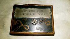 "Strongbox Bank ""Inter Ocean Little Home Saver"" ID Perry Co, Chicago, 3 1/4"" Tall"