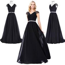 Lang Abendkleid Brautkleider Ballkleider Party Cocktailkleid Maxi Kleid Größe 46