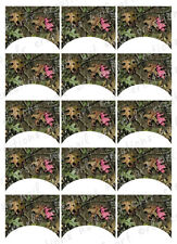 15 FRENCH NAIL TIPS *MOSSY OAK CAMO PINK LEAF* WATERSLIDE NAIL DECALS