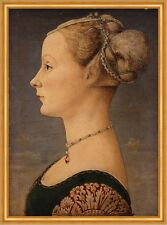 Portrait of a Woman Piero del Pollaiuolo Frauen Frisur Schmuck Profil B A1 03089