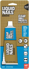 Liquid Nails Adhesive Glue Clear 2.5oz Small Projects