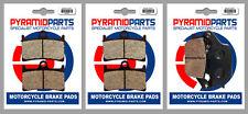 Yamaha MT-09 850 Tracer (Rad.cal) 2015 Front & Rear Brake Pads (3 Pairs)