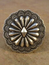 Big Old Style Navajo Sterling Silver Concho Ring sz 9