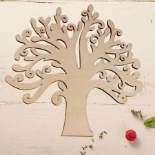 1Pcs New Hollow Out Wooden Sky Tree Shapes Wedding Guestbook Crafts Woodworking