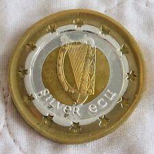 NORTHERN IRELAND 1992 DIE TRIAL UNIFACE TRI METALLIC PROOF PATTERN SILVER ECU