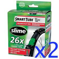 "2x SLIME 26"" Self Sealing ThornProof SCHRADER Valve MTB Tube 26x1.75-2.125"""