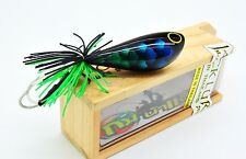 TOPWATER WOOD FISHING  handmade Lure Jumping Frog 5.5 cm. 3D color  Thailand