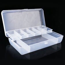 Visible Fishing Lure Bait Hooks Tackle Waterproof Storage Box Case Two Layer