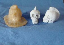 1 SMALL MOHICAN SKULL MOLD/MOULD 40mm x 32mm MADE FROM LATEX RUBBER