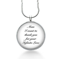 Mom Necklace-Thank you MOM for you Infinite LOVE-inspirational jewelry,mothers