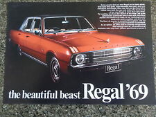 1969 VF CHRYSLER VALIANT REGAL SALES BROCHURE '''MINT'''