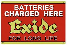 Exide Battery Charger Sign