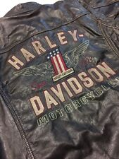 NWT Harley Davidson Men's Long Way Washed Leather Jacket XL 98089-15VM #1