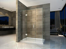 New Frameless shower screen with base 10mm Glass 800X1200X2000 Very Popular