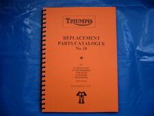 TRIUMPH PRE-UNIT PARTS BOOK FOR 1954  650 & 500 MODELS