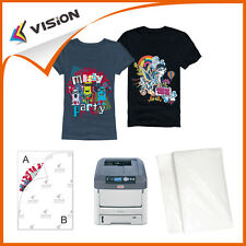 25x T-Shirt Iron on Transfer Paper A4 for Dark Fabrics - Inkjet Printer