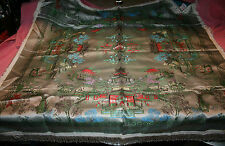 Vintage Silk Brocaded Flowers Small Table Cover Shanghal Automotive