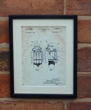 "USA Patent Vintage SCUBA DIVING COUSTEAU Mounted PRINT 10"" x 8"" 1949 Gift Xmas"