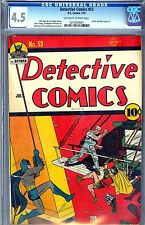 CGC DETECTIVE COMICS # 53 (GOLDEN AGE 1941) 4.5 VG+ BATMAN,