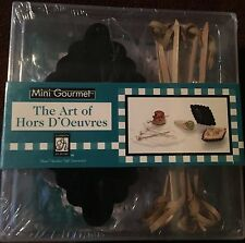 Art of Hors D'Oeuvres Gourmet Gift Kit with 64 page Cookbook Doilies Skewers NIP