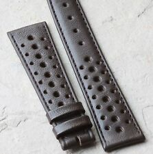 LAST ONES Heuer Carrera Heuer Autavia brown vintage 20mm rally watch strap NOS