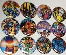X-MEN Buttons Pins. Comic Books Wolverine Nightcrawler Cyclops Marvel