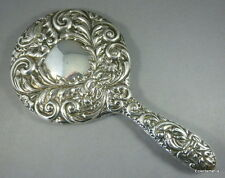 Beautiful Hallmarked English Silver Hand Mirror - B'Ham 1958