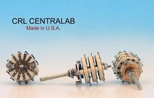 CRL CENTRALAB USA CERAMIC Rotary Switch  3 pole 11 positions 3P11T NON SHORTING