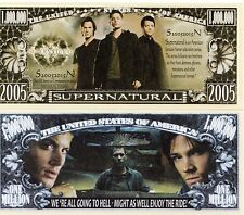 Supernatural TV Series Million Dollar Novelty Money