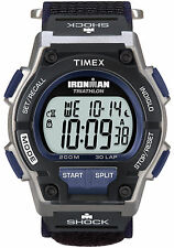 "Timex T5K198, Men's ""Ironman Triathlon"" 30-Lap Velcro Watch, Shock, T5K1986J"