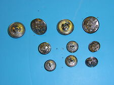 b2458 US Army Vietnam Silver Uniform Button set 4 large 6 small B3D