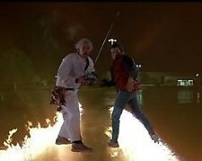 Back to the Future Marty and Doc Remote 10x8 Photo